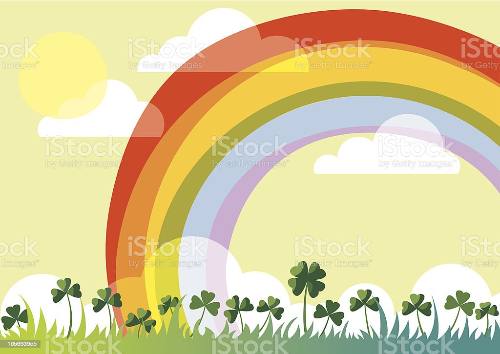 Sunny spring day. royalty-free stock vector art