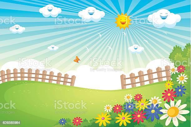 Sunny spring landscape vector vector id626585984?b=1&k=6&m=626585984&s=612x612&h= jlx3qyxetukas ieyg3p7aydehgle7yhqkujc9cxa8=