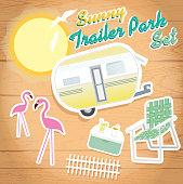 Sunny trailer park summer celebration set