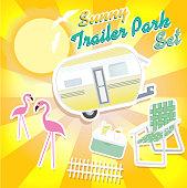 Sunny trailer park summer celebration