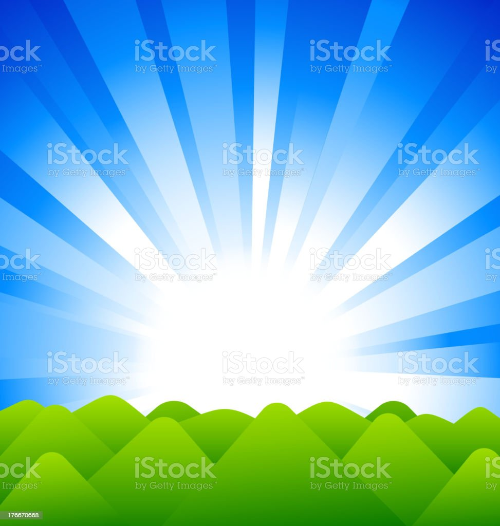Sunrise above Hills royalty-free sunrise above hills stock vector art & more images of animals in the wild