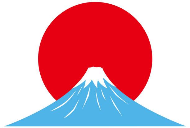 日の出と富士の山。 - 富士山点のイラスト素材/クリップアート素材/マンガ素材/アイコン素材