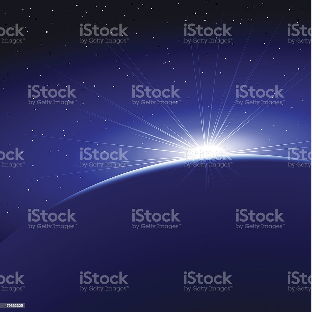 Sunrise Dawn Space Planet Earth (eps8) royalty-free sunrise dawn space planet earth stock vector art & more images of astronomy