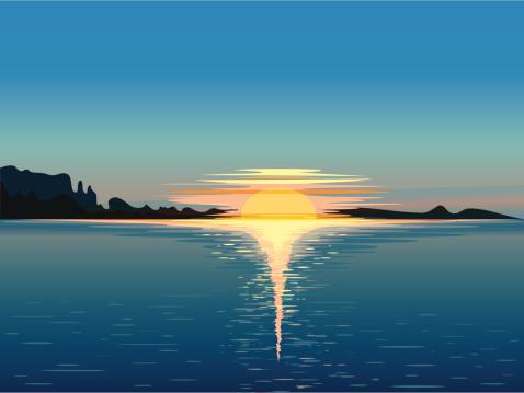 Sunrise Horizon, vector panorama