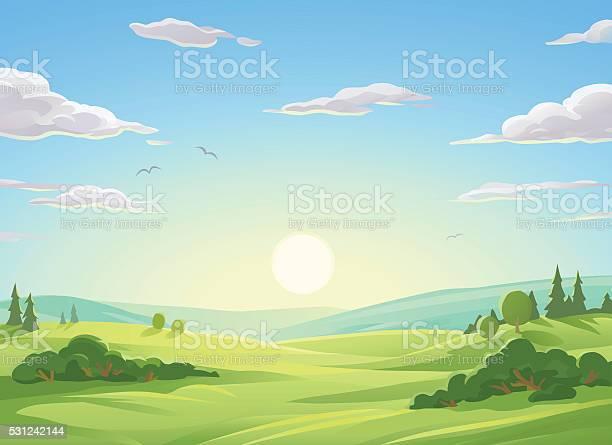 Sunrise over green hills vector id531242144?b=1&k=6&m=531242144&s=612x612&h=gepanqnwoxvoasqi021fg669nxr7gqon7b29zovkz3y=