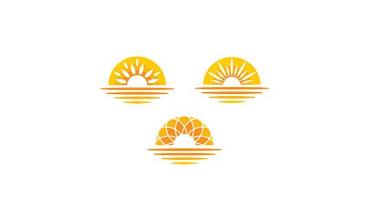 Sunrise Sunset Sea Vector Icon - Stockowe grafiki wektorowe i więcej obrazów Abstrakcja