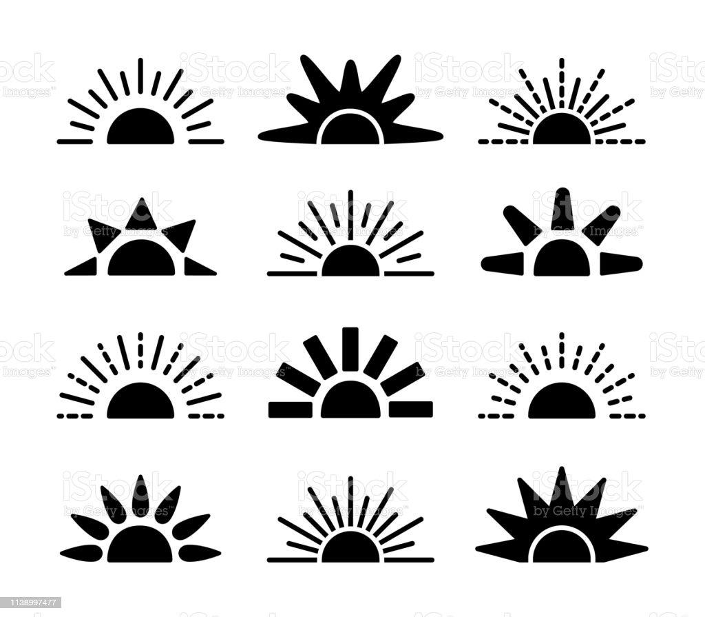 28+ Sunset Illustration Black And White JPG
