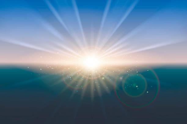 日の出 ベクトル光の背景 - 希望点のイラスト素材/クリップアート素材/マンガ素材/アイコン素材