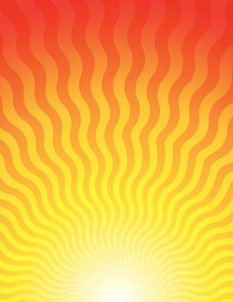 illustrations, cliparts, dessins animés et icônes de vagues de sunrise - chaleur