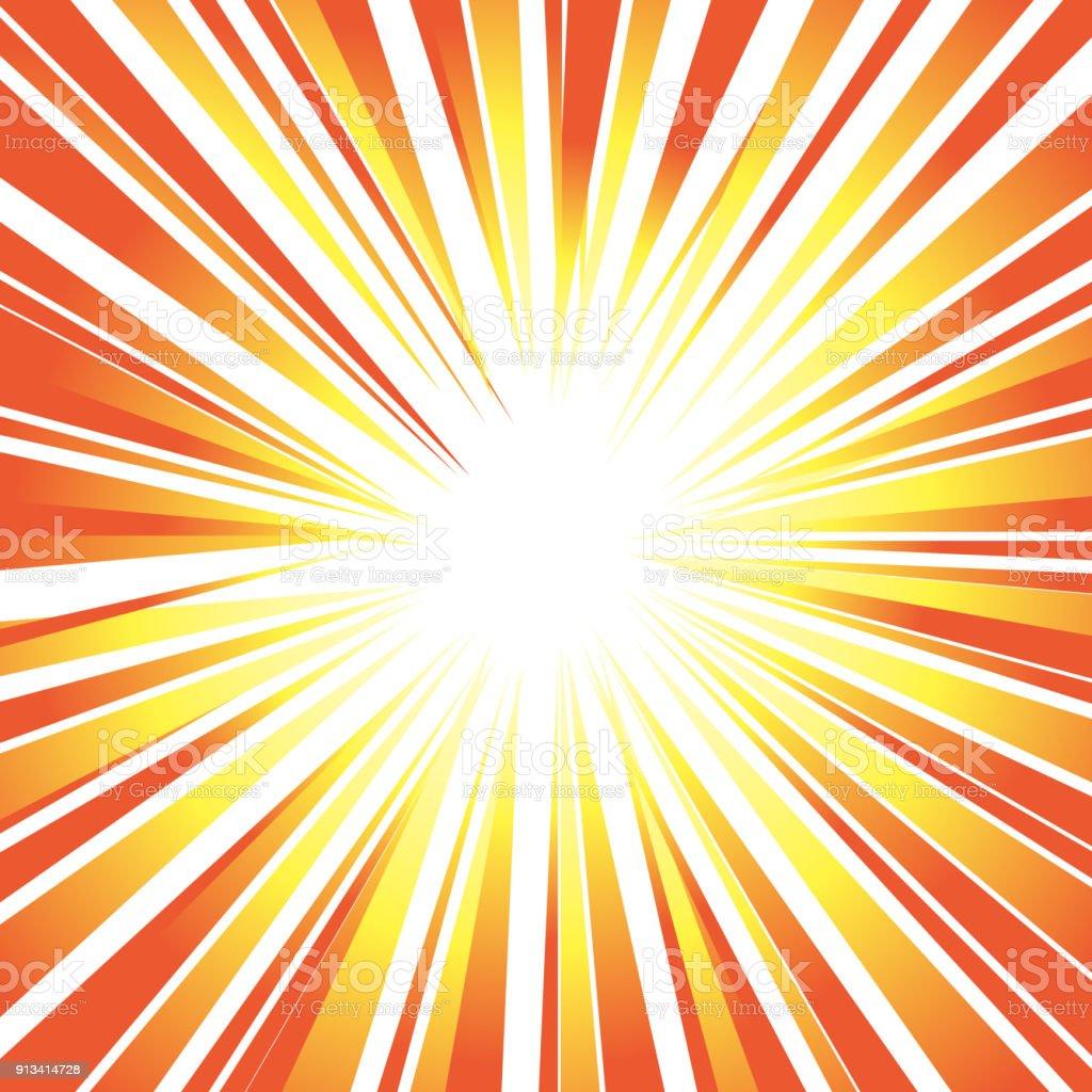 Sun's rays or explosion vector art illustration