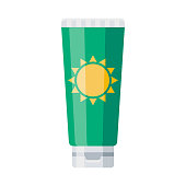 istock Sunscreen Icon on Transparent Background 1283420025