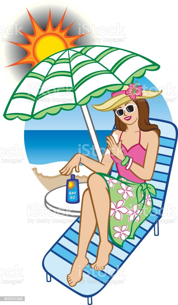 Sunscreen Protection vector art illustration