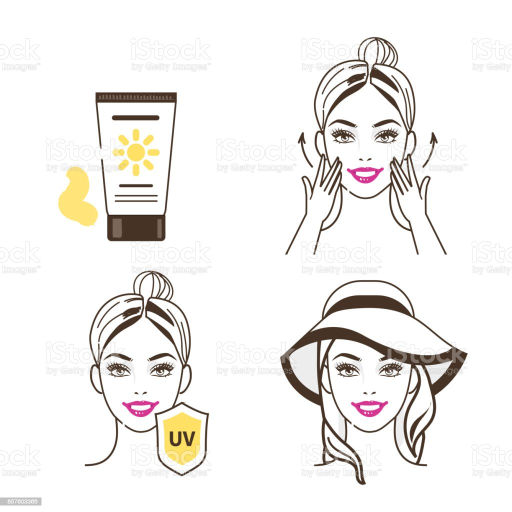 sunscreen vector art illustration