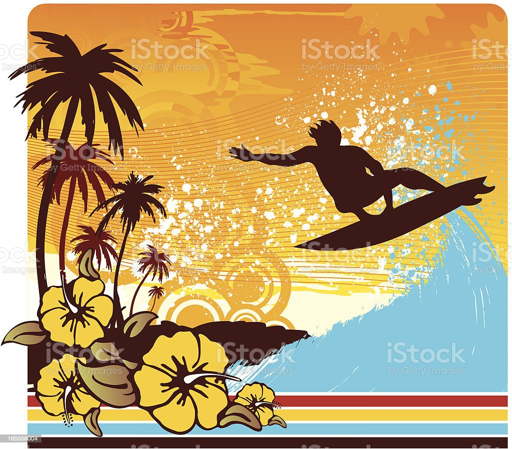sunset aereal royalty-free stock vector art