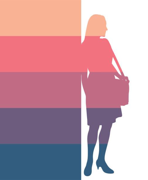 ilustrações de stock, clip art, desenhos animados e ícones de sunset business woman - portrait of confident business