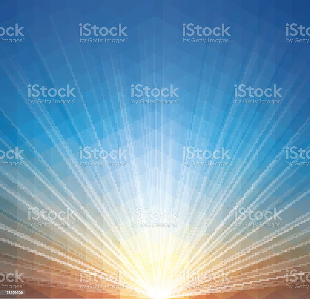 Sunset Geometric Background vector art illustration