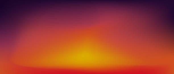 sunset gradient background . - zachód słońca stock illustrations