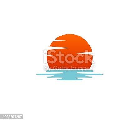 istock Sunset icon 1252794297
