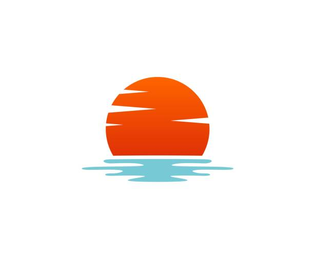 Sunset icon This illustration/vector you can use for any purpose related to your business. lakes stock illustrations
