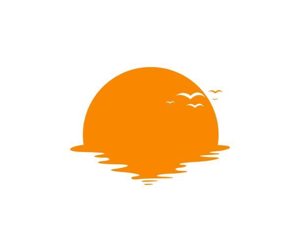 Icône du coucher du soleil - Illustration vectorielle