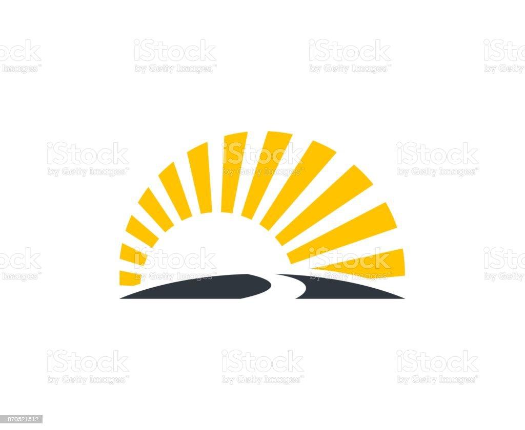 Sunset icon - Grafika wektorowa royalty-free (Abstrakcja)