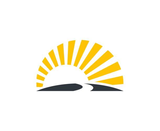 ikona zachód słońca - zachód słońca stock illustrations