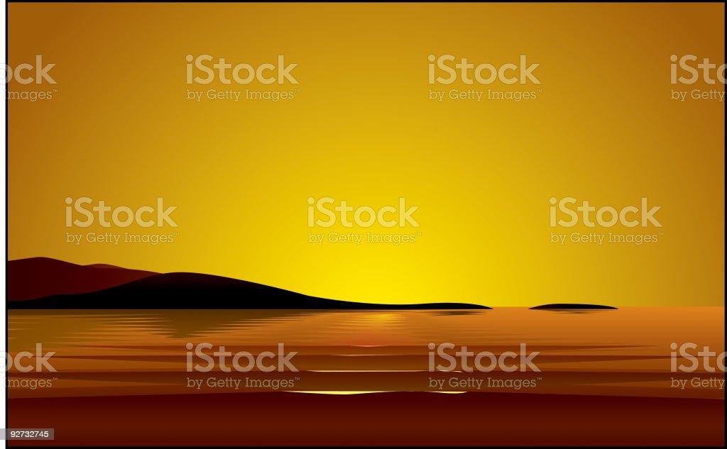 Sunset Illustration royalty-free stock vector art