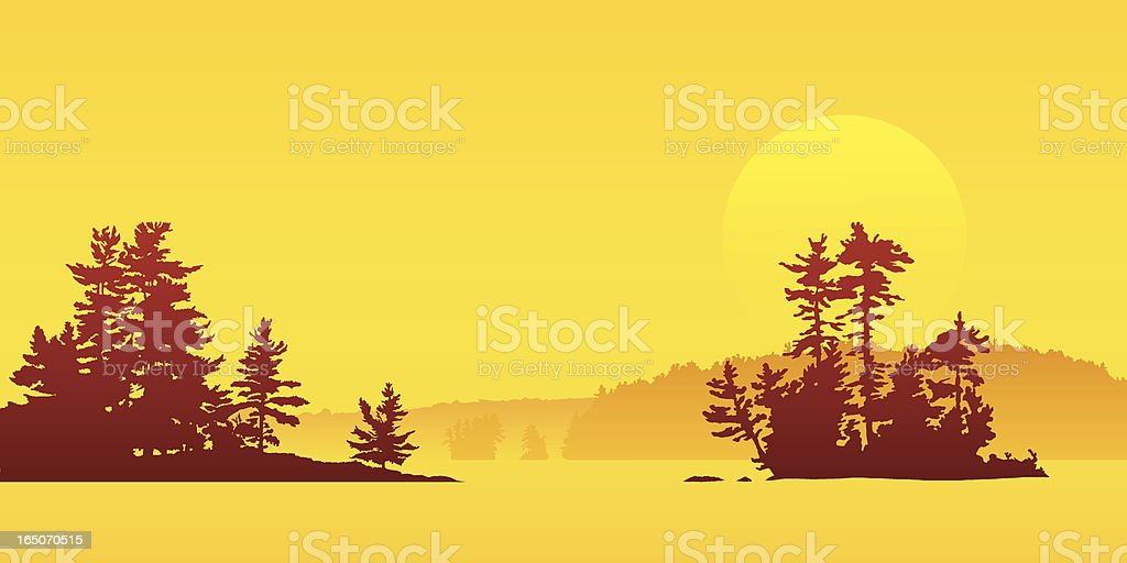 Sunset Island royalty-free stock vector art