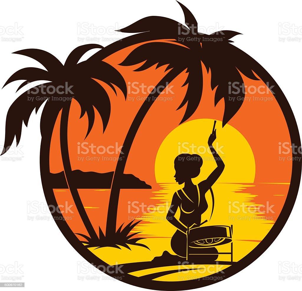 royalty free steelpan clip art vector images illustrations istock rh istockphoto com free sunset clipart images palm tree sunset clipart free