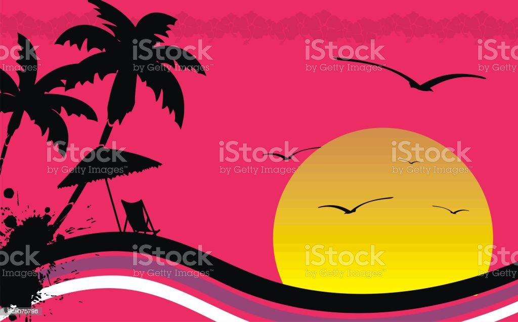 sunset summer hawaiian background royalty-free sunset summer hawaiian background stock vector art & more images of abstract