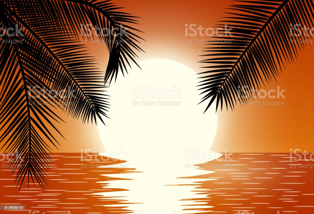 Sunset. Summer Sunset Landscape.