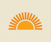 istock Sunset sun icon. 1257737982