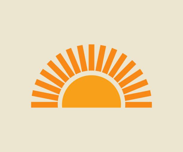 ilustrações de stock, clip art, desenhos animados e ícones de sunset sun icon. - sun