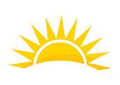 istock Sunset sun icon. 1288822874