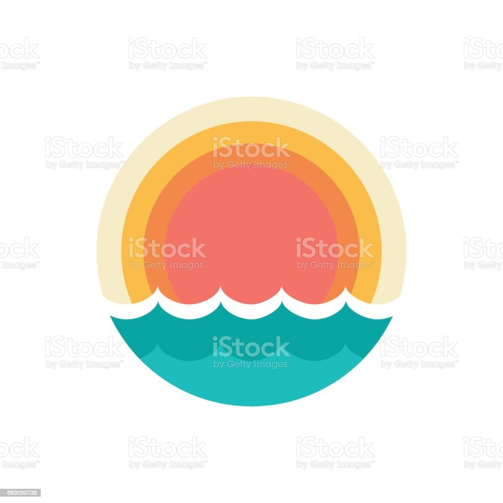 sunset symbol vector art illustration
