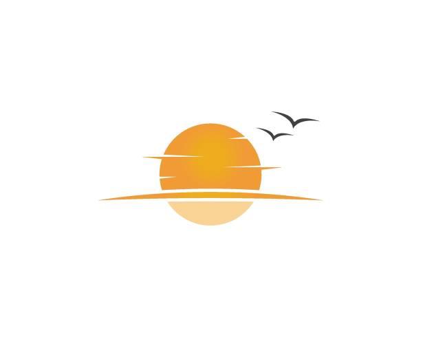 ilustrações de stock, clip art, desenhos animados e ícones de sunset  template - sunset