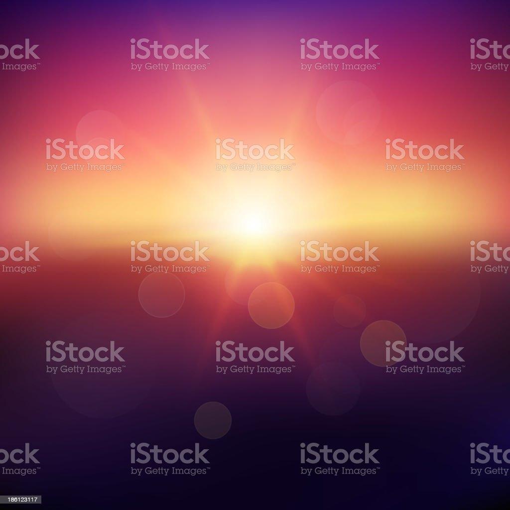 Puesta de sol - ilustración de arte vectorial
