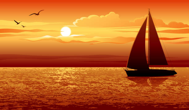 zachód słońca - zachód słońca stock illustrations