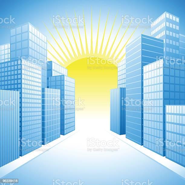 Miasto Słońca - Stockowe grafiki wektorowe i więcej obrazów Niebo - Zjawisko naturalne