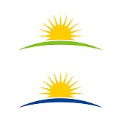 istock Sunshine Horizon Logo Template Illustration Design. Vector EPS 10. 1219035755