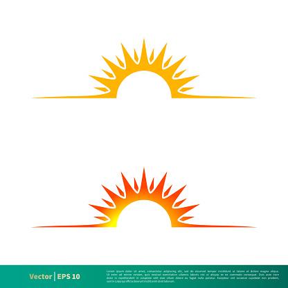 Sunshine Icon Vector Logo Template Illustration Design. Vector EPS 10.