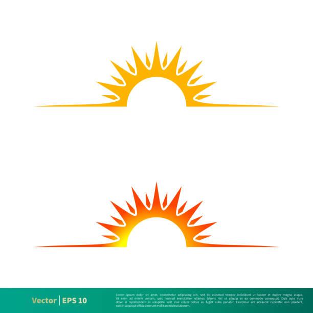 ilustrações de stock, clip art, desenhos animados e ícones de sunshine icon vector logo template illustration design. vector eps 10. - sun