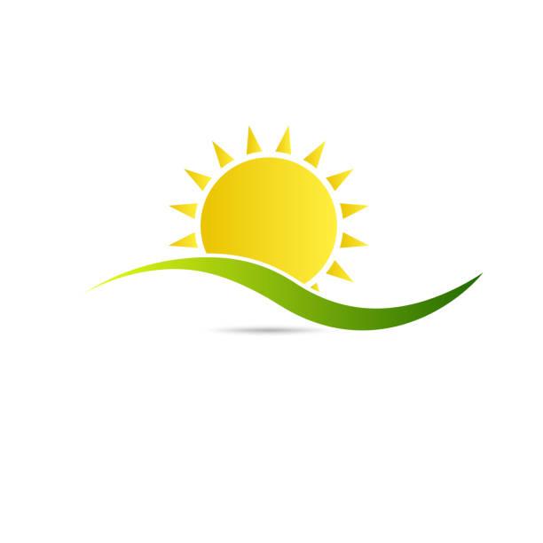 Sunshine logo. Vector graphic illustration vector art illustration