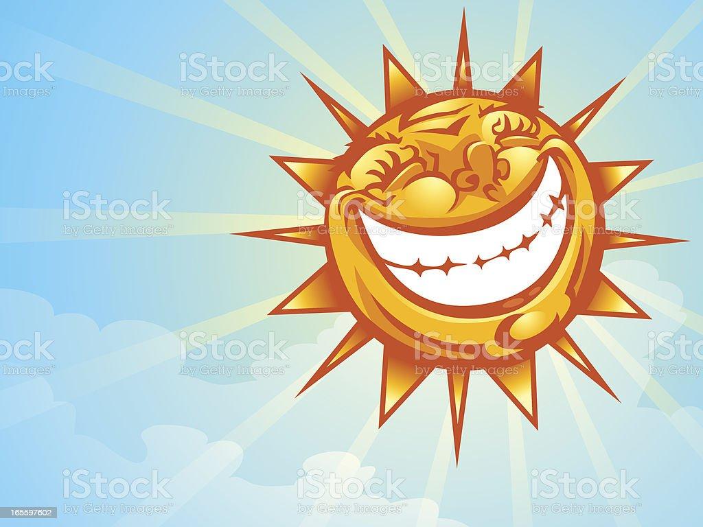 Sol sorriso ilustração de sol sorriso e mais banco de imagens de azul royalty-free