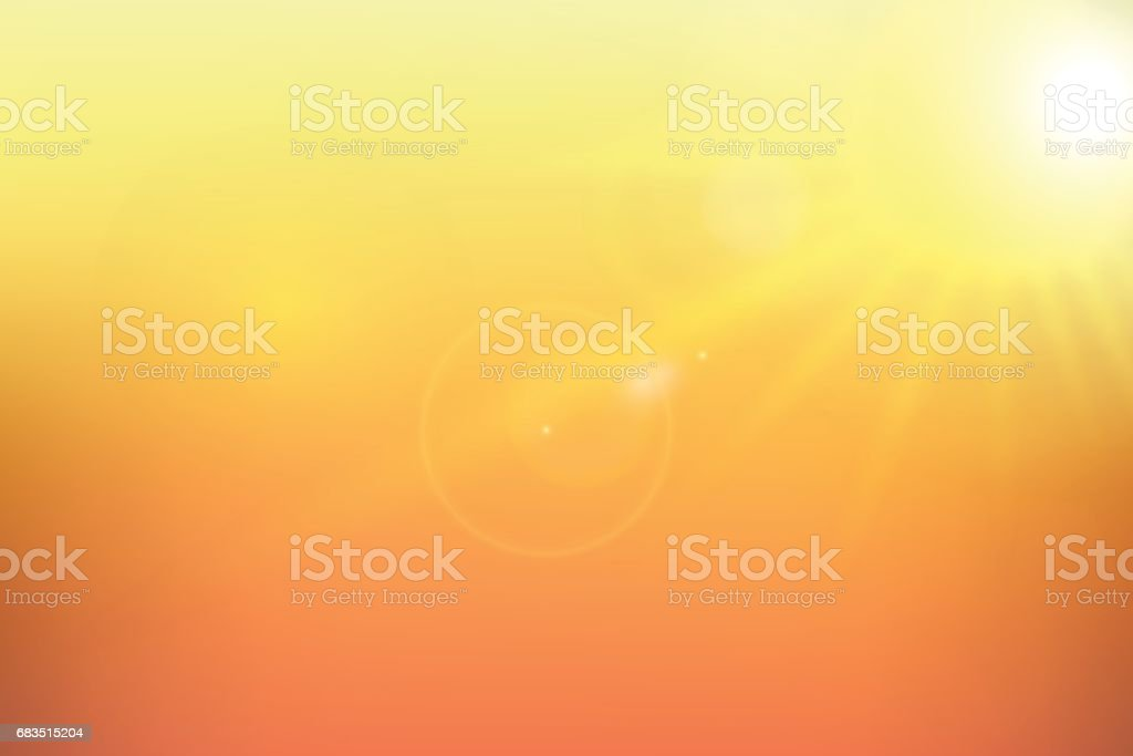 Sunshine yellow background. Vector illustration.