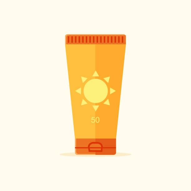 ilustrações de stock, clip art, desenhos animados e ícones de suntan lotion icon - protetor solar