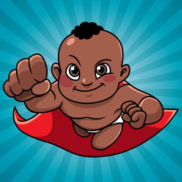 ilustrações de stock, clip art, desenhos animados e ícones de super baby abstract background black - baby super hero
