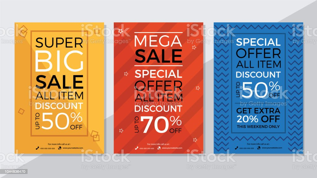 Super Big Sale Mega Sale And Special Offer Flyer Template Stock