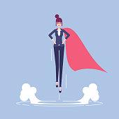 Super businesswoman illustration