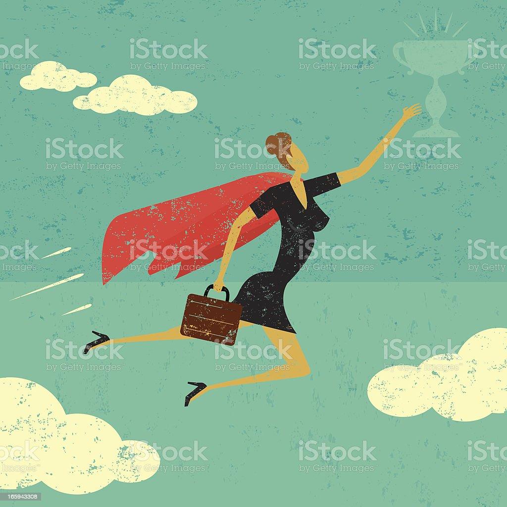 Super Businesswoman royalty-free stock vector art